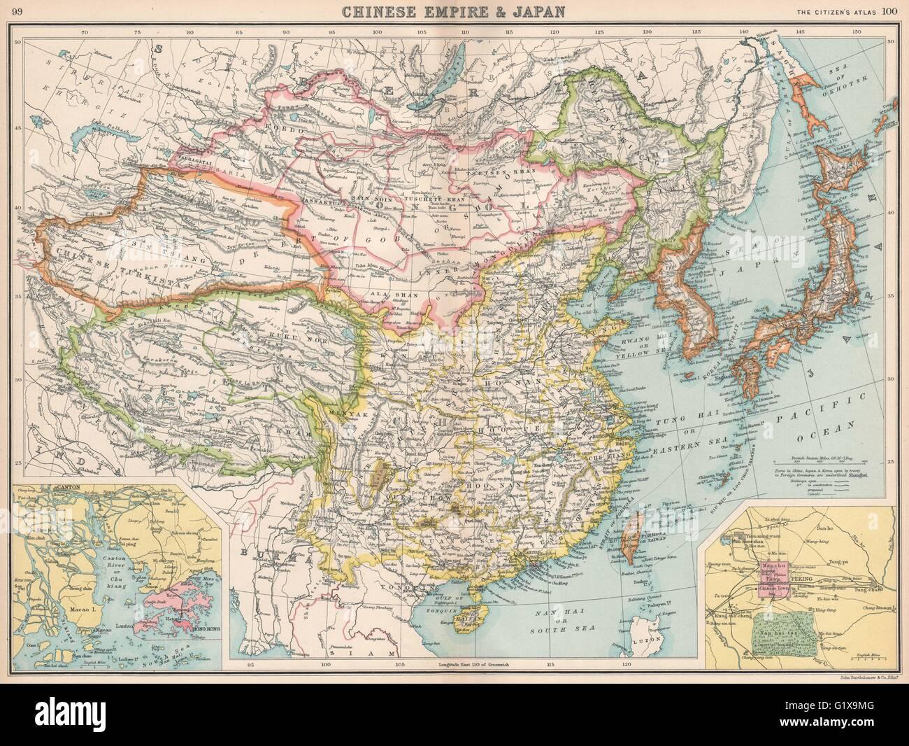 East asia china chinese turkistan tibet korea japan hong kong stock east asia china chinese turkistan tibet korea japan hong kong peking 1912 map gumiabroncs Choice Image
