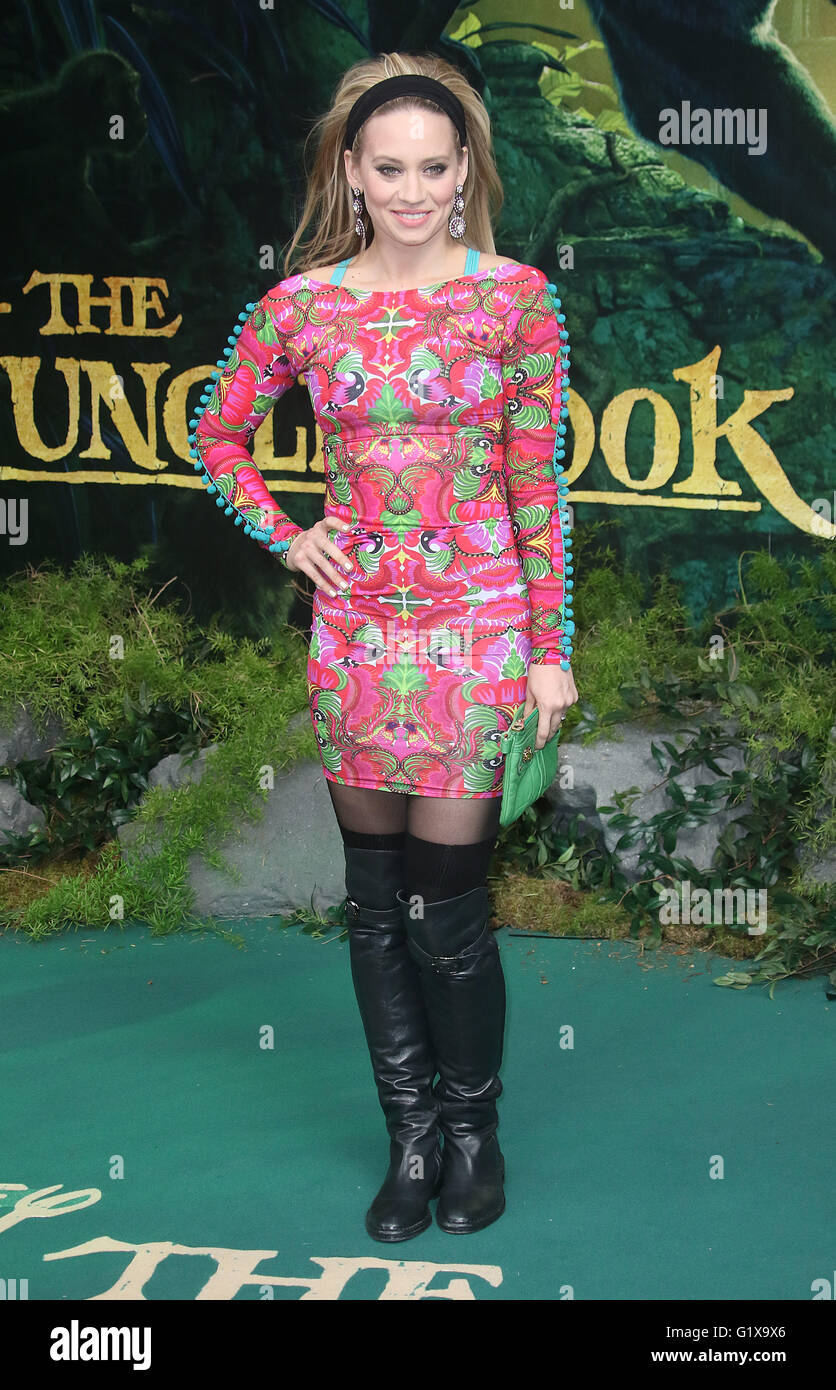 April 11, 2016 - Kimberly Wyatt attending The Jungle Book European Premiere at BFI Imax in London, UK. - Stock Image