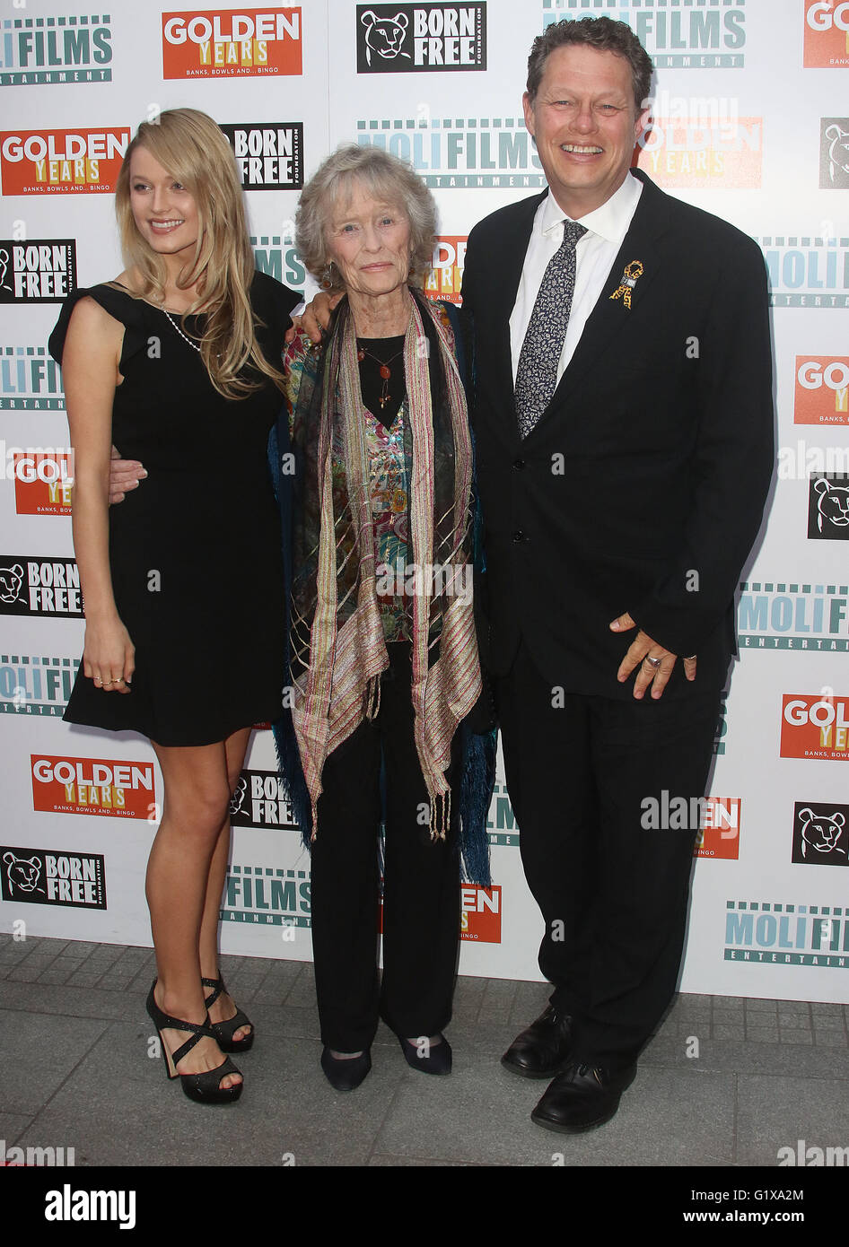 April 14, 2016 - Lily Travers, Virginia McKenna and William Travers