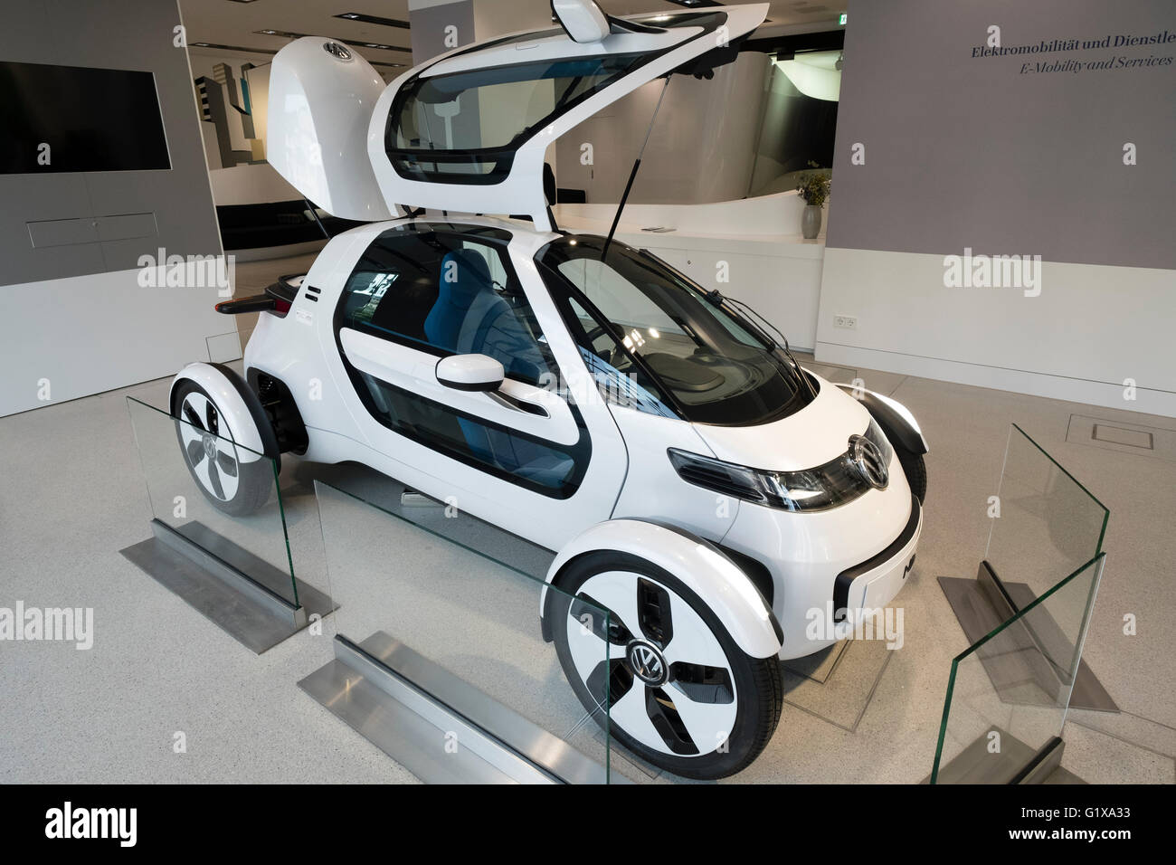 Volkswagen Nils electric concept car on display at Drive Forum showroom in Berlin Germany - Stock Image