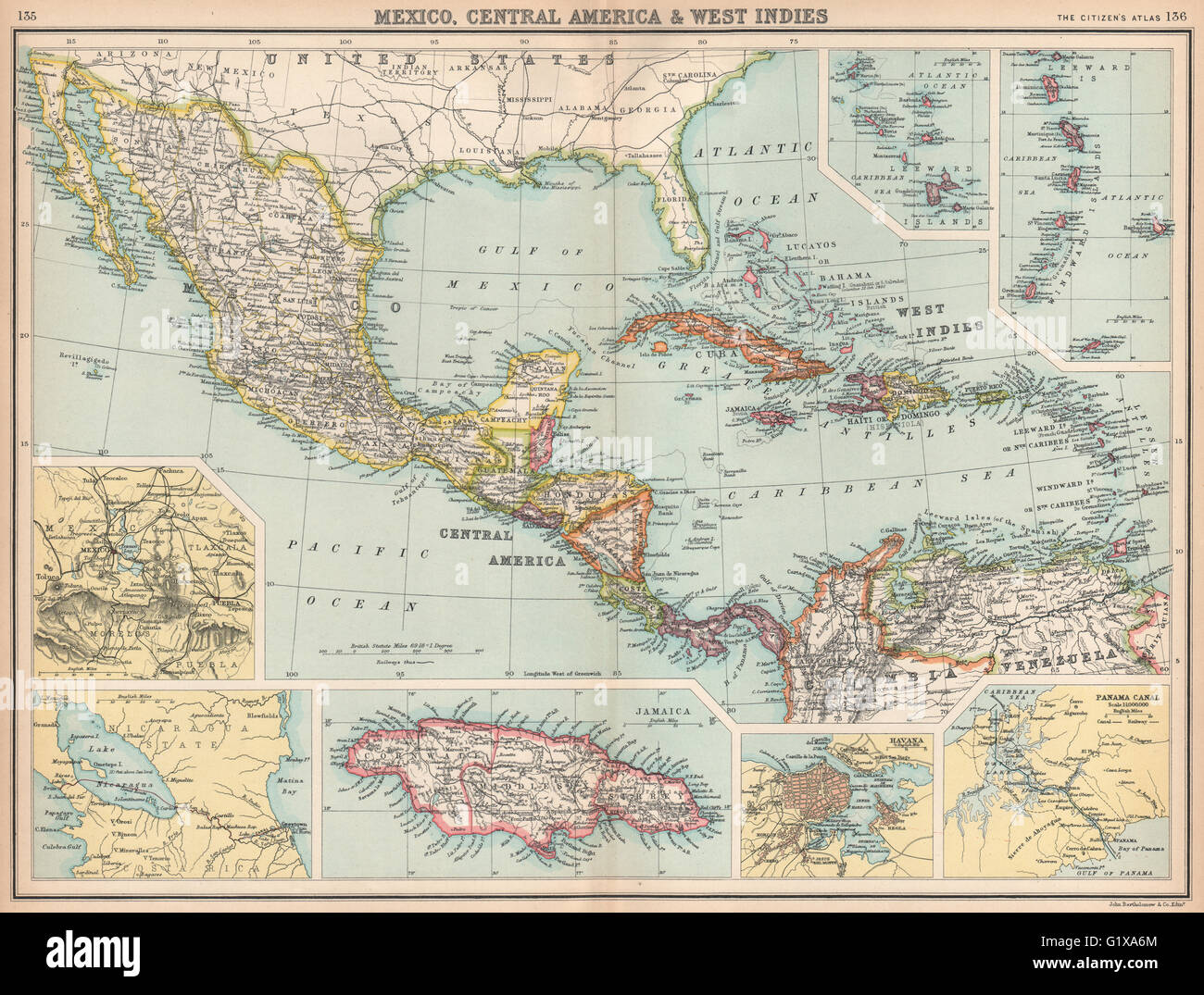 Mexico central america west indies panama proposed nicaragua mexico central america west indies panama proposed nicaragua canals 1912 map gumiabroncs Image collections