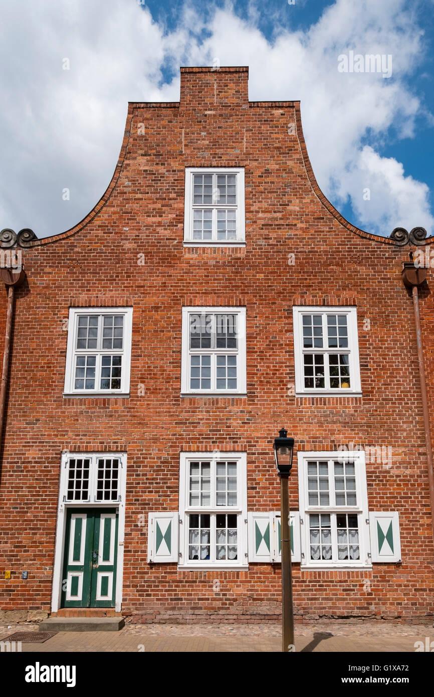 Traditional Dutch style house in Dutch Quarter in Potsdam Brandenburg Germany - Stock Image