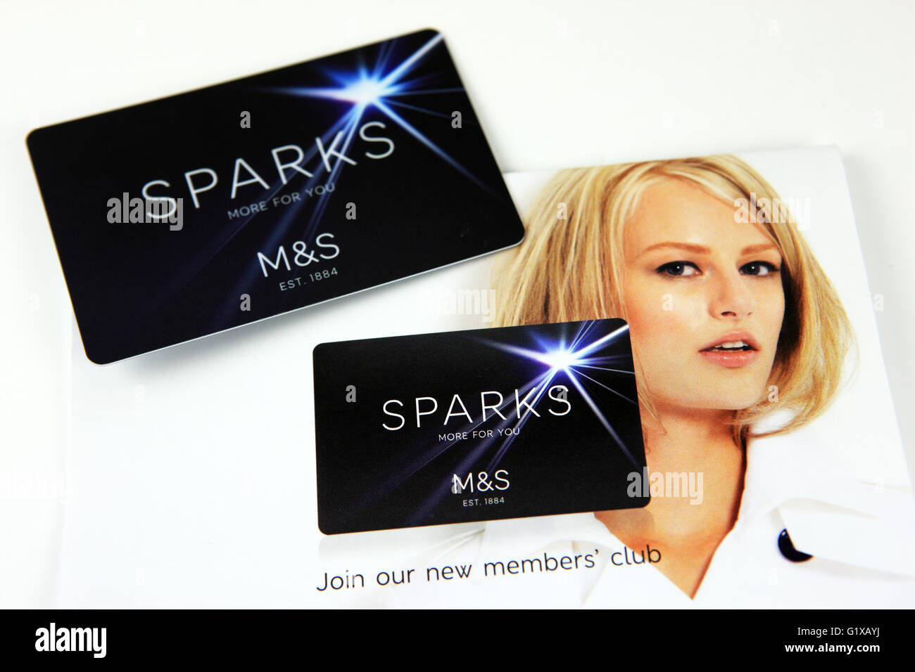 Marks & Spencer's Sparks card and promotional literature - Stock Image