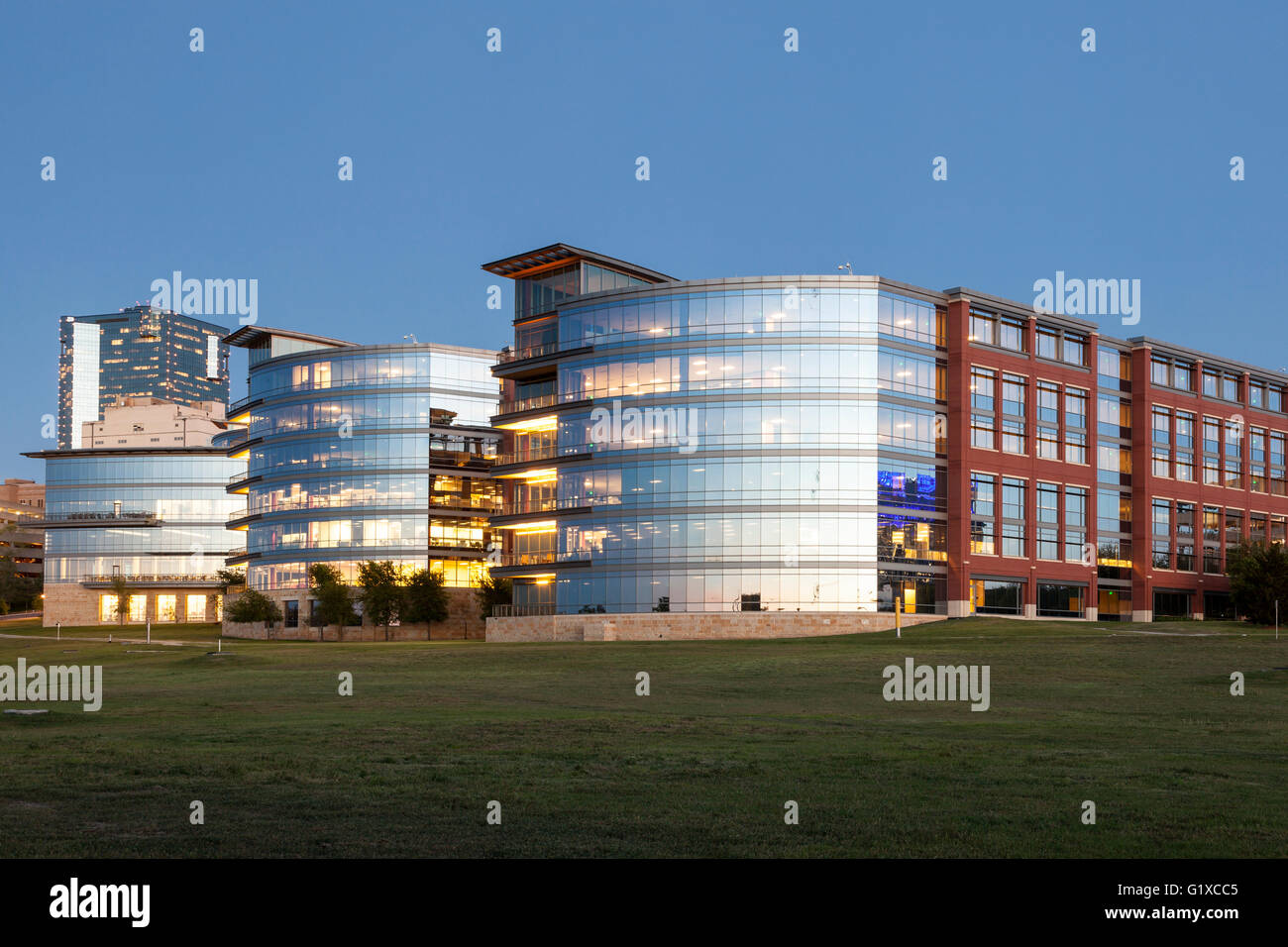 Trinity River Campus Of The Tarrant County College At Dusk Fort