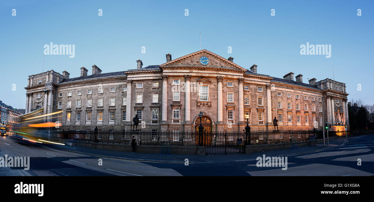 Trinity College is the sole constituent college of the University of Dublin, a research university in Ireland. - Stock Image