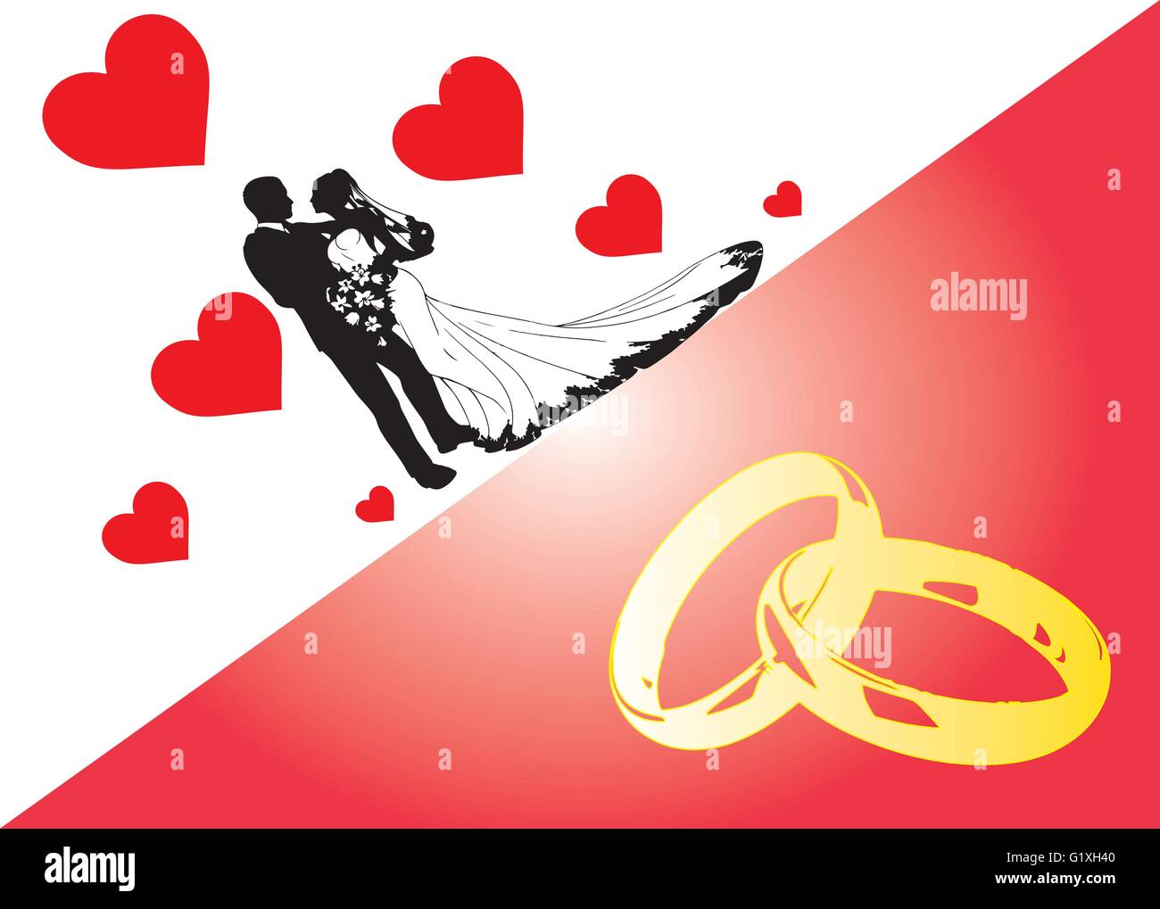 Wedding invitation Stock Vector