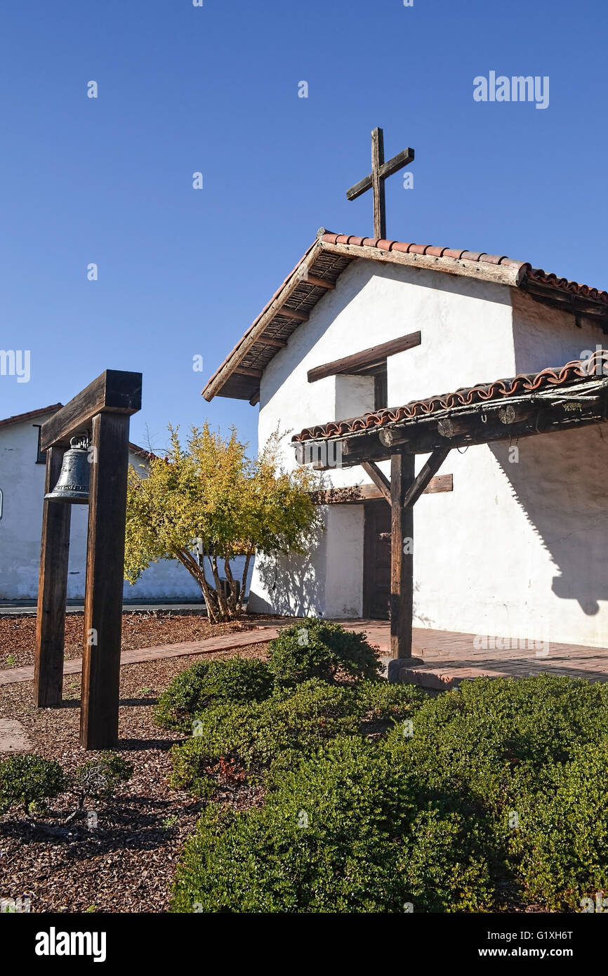 Front entrance of Mission San Francisco Solano Stock Photo