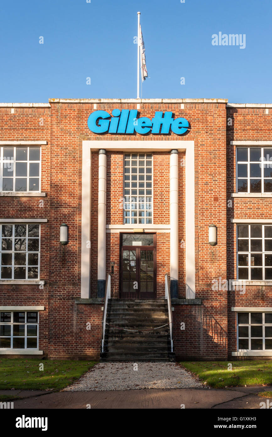 Gillette factory entrance. Reading, Berkshire, England, GB, UK. - Stock Image