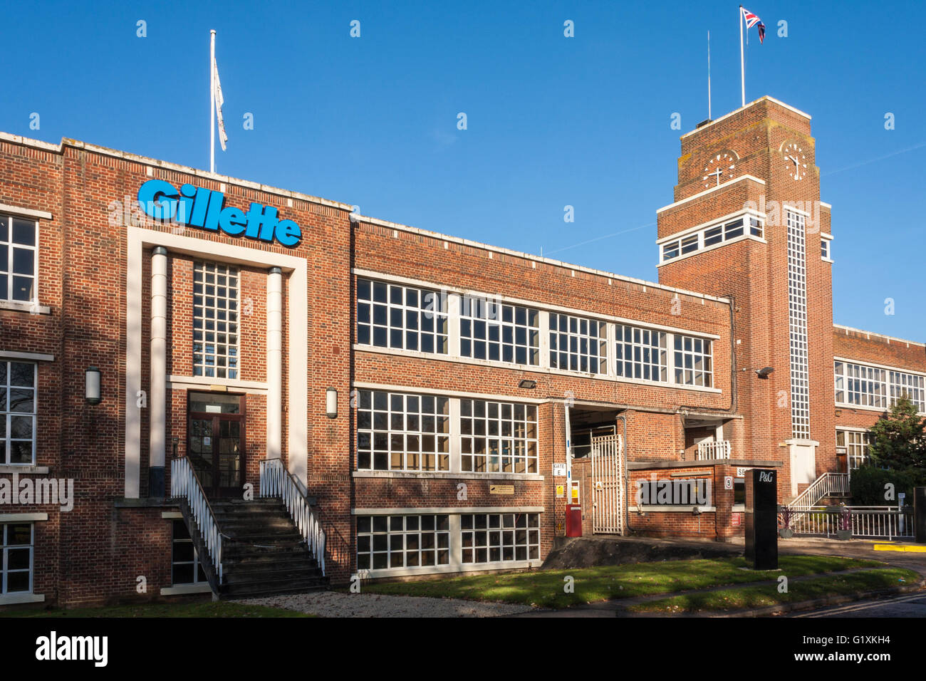 Gillette factory exterior. Reading, Berkshire, England, GB, UK. - Stock Image