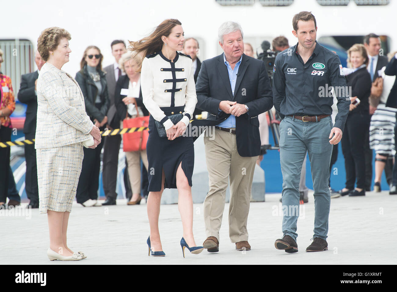 Portsmouth, UK. 20th May 2016. Duchess of Cambridge arrives at Landrover BAR and the 1851 Trust and is greeted by Stock Photo