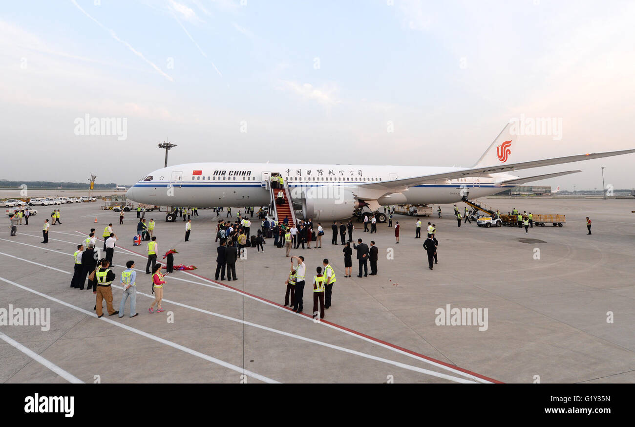Chinese 787 dreamliner stock photos chinese 787 dreamliner stock beijing china 20th may 2016 photo taken on may 20 2016 publicscrutiny Images