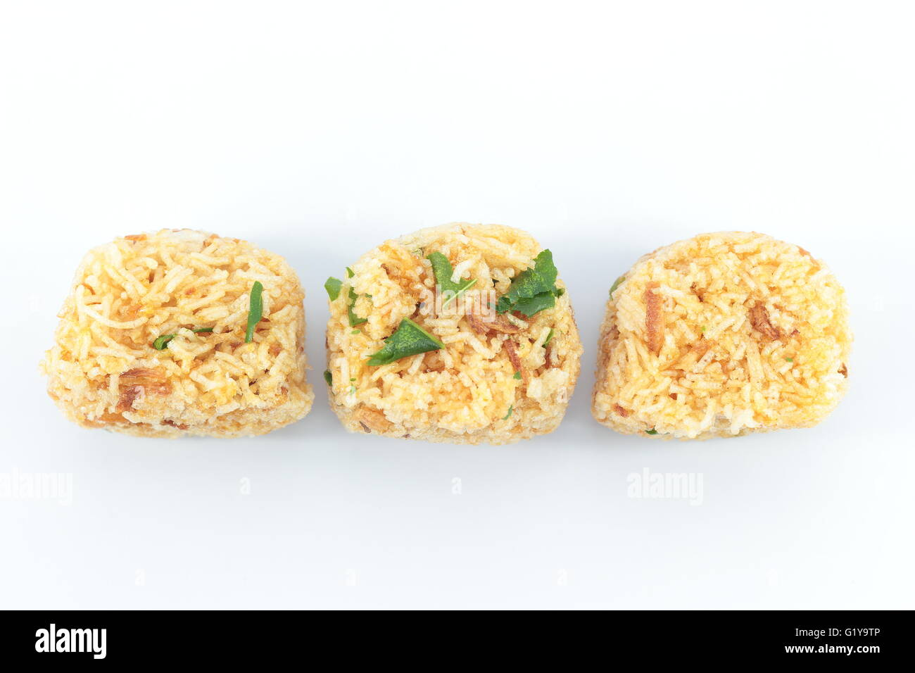 Fried rice noodle Snacks are available - Stock Image
