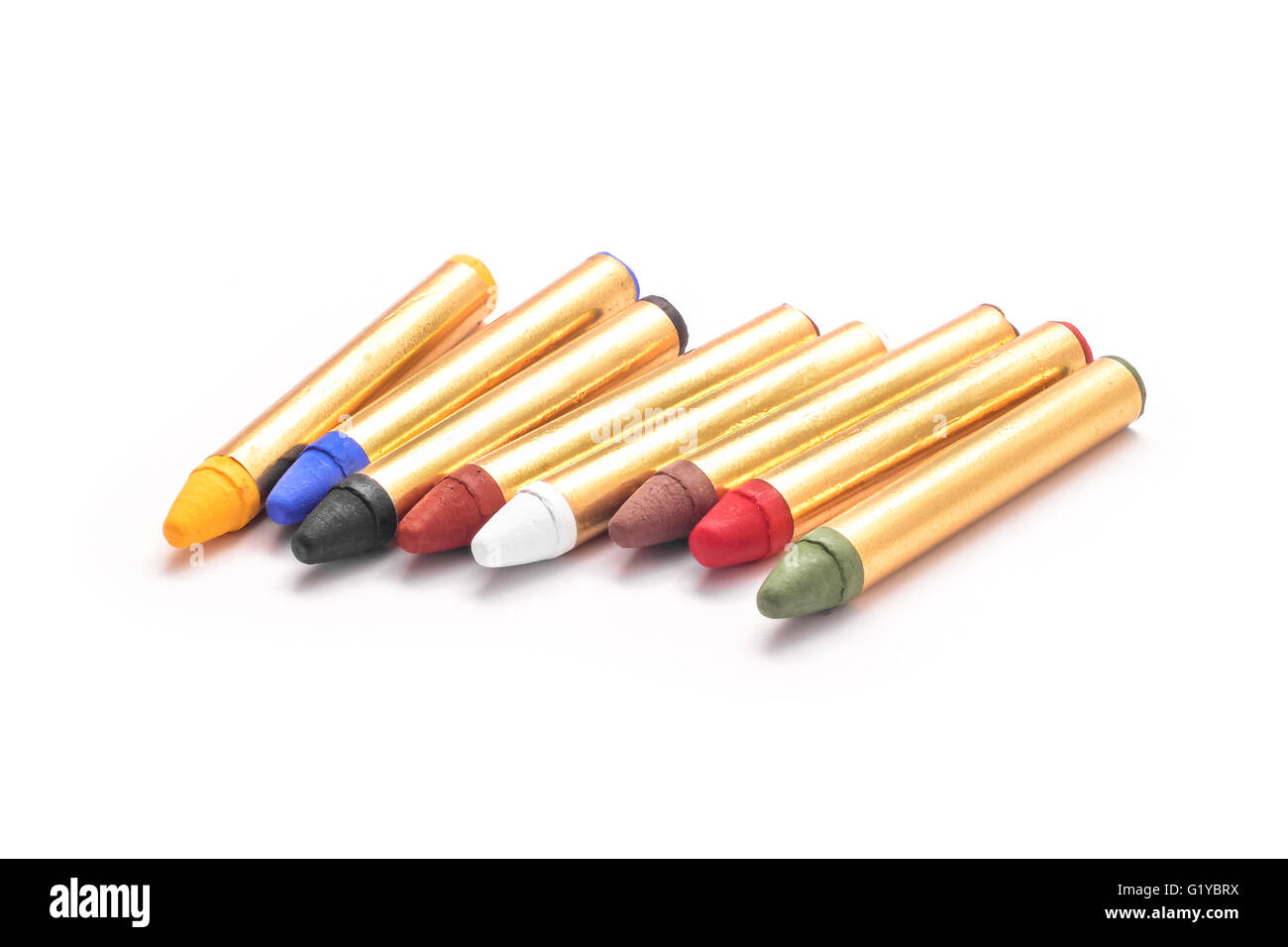 body paint crayons set isolated - Stock Image