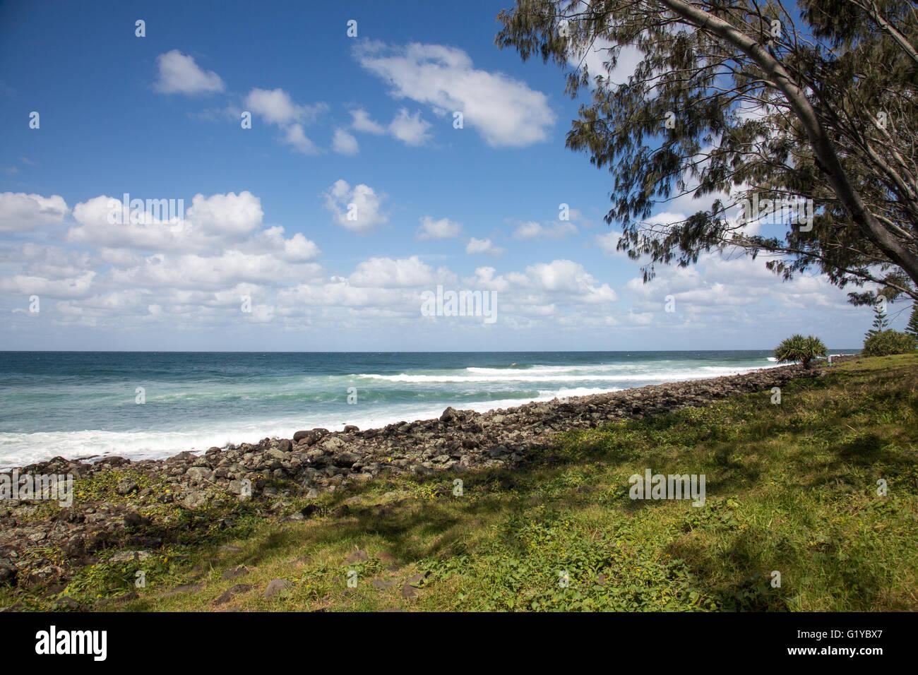 Seven mile beach at Lennox Head on the far New South Wales coastline,australia - Stock Image