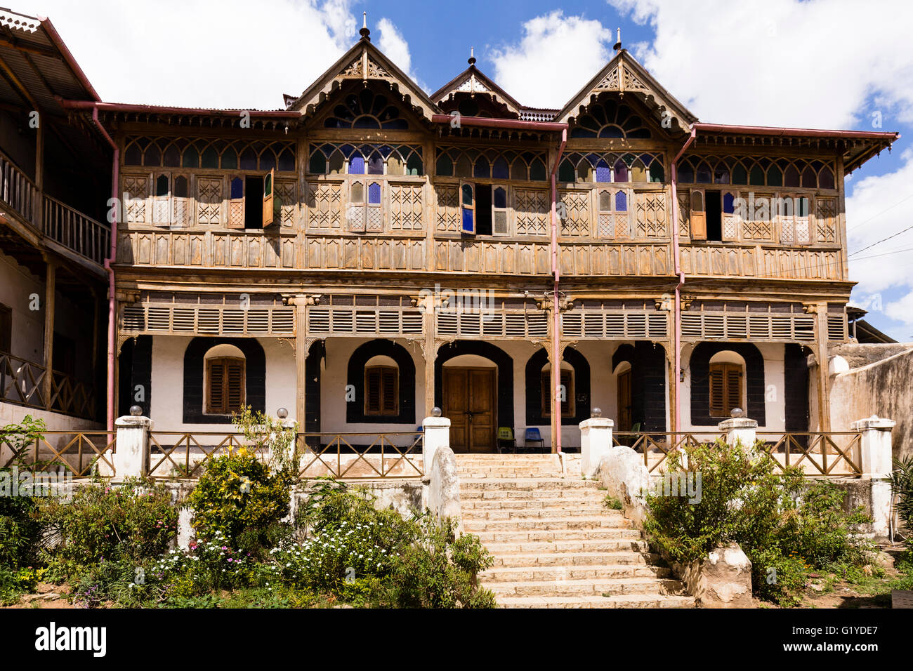 House from writer Arthur Rimbaud, Harar, Ethiopia - Stock Image