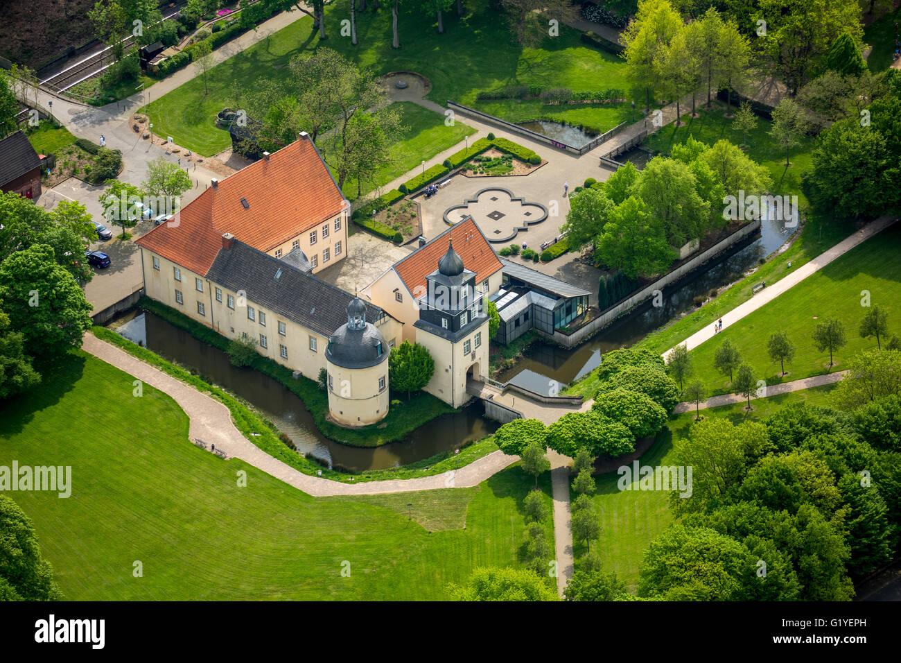 Aerial view, Haus Martfeld Schwelm, Ruhr Area, North Rhine Westphalia, Germany, Europe, Aerial view, birds-eyes - Stock Image