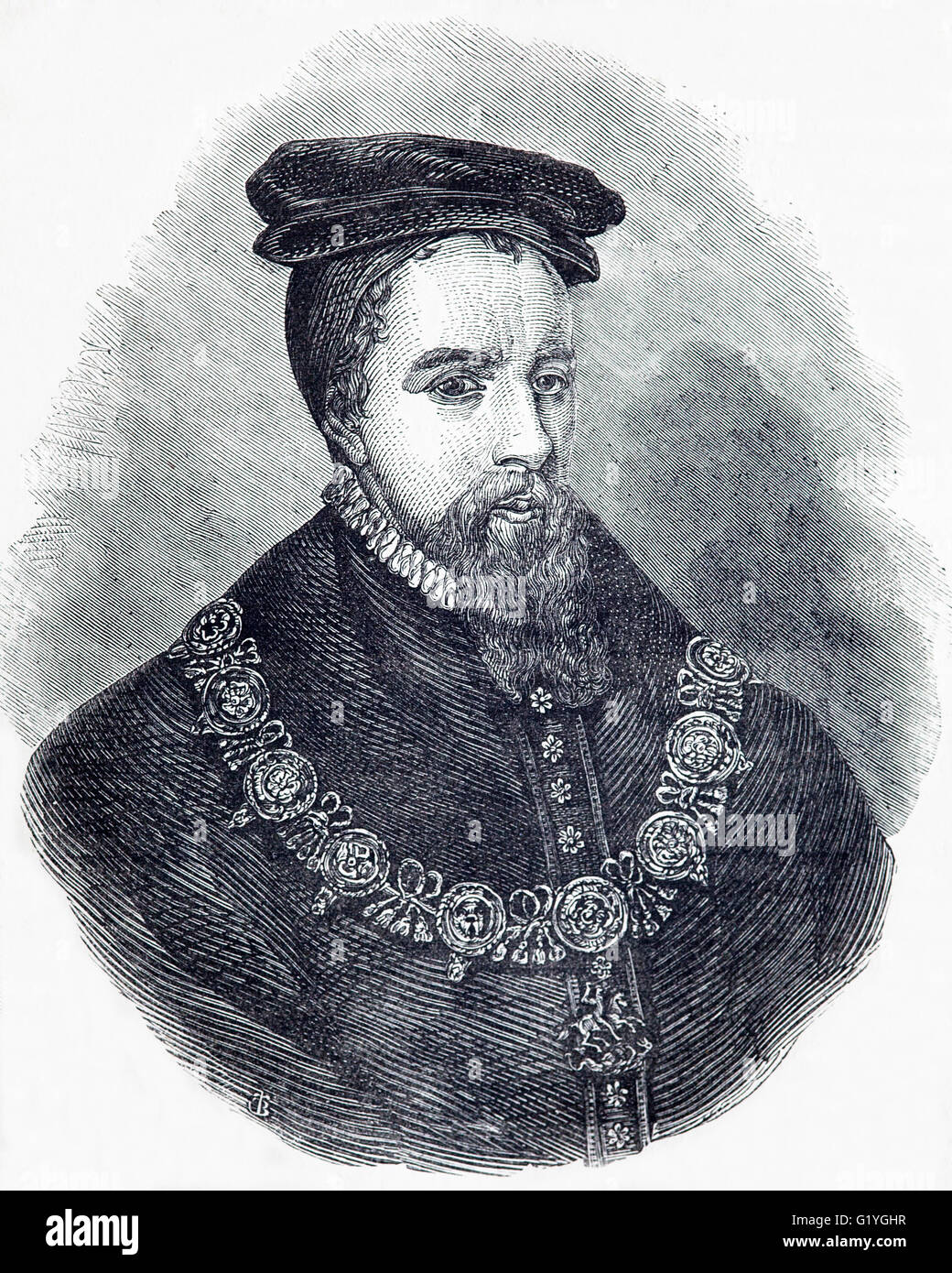 Thomas Stanley, 1st Earl of Derby, (1435 - 1504),  English nobleman and stepfather to King Henry VII of England. Stock Photo