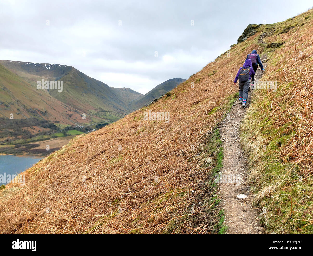 Two children fell walking in Lake District, Cumbria. - Stock Image