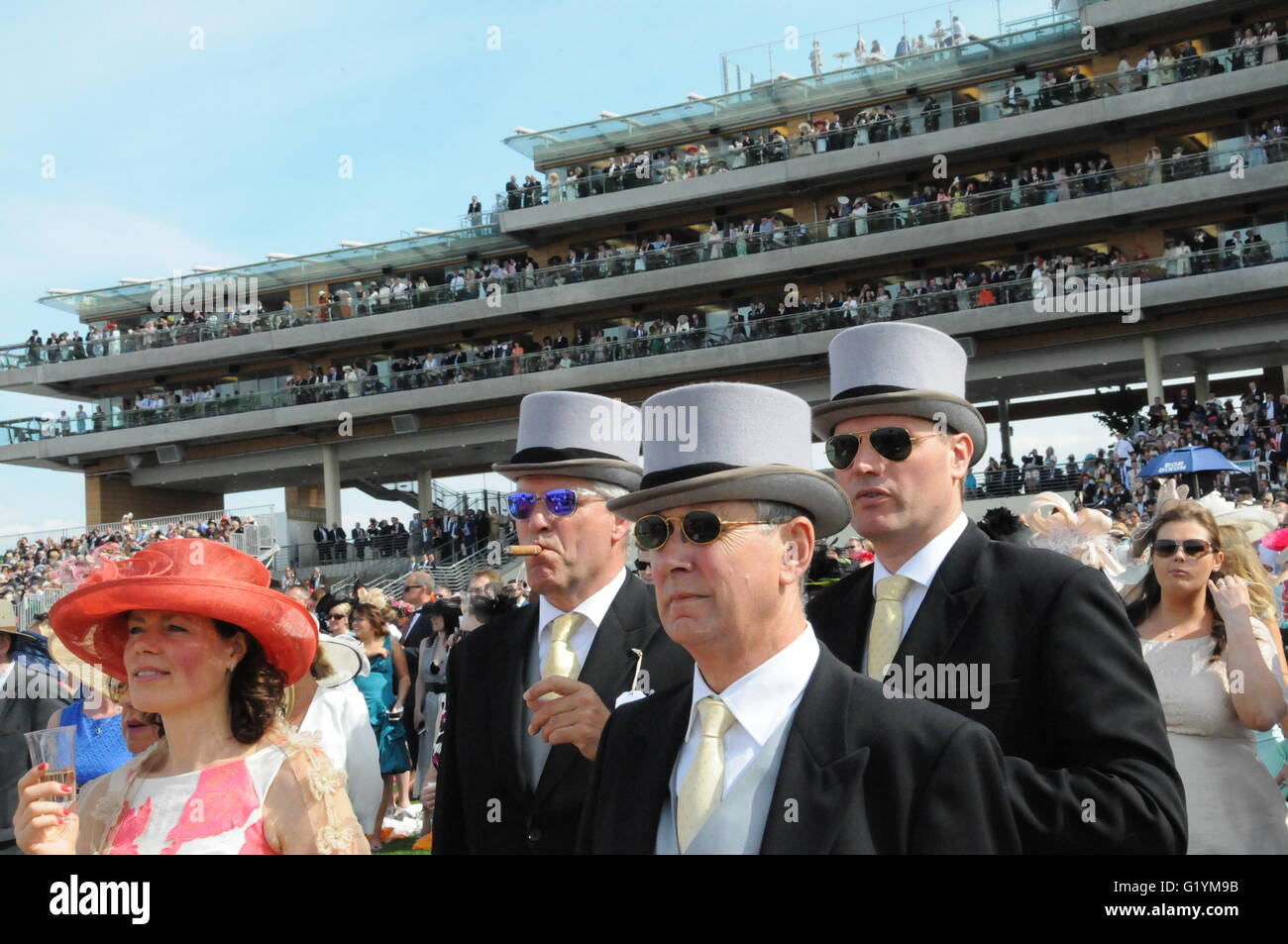 Enjoying the races, at Royal Ascot horse race meeting. - Stock Image