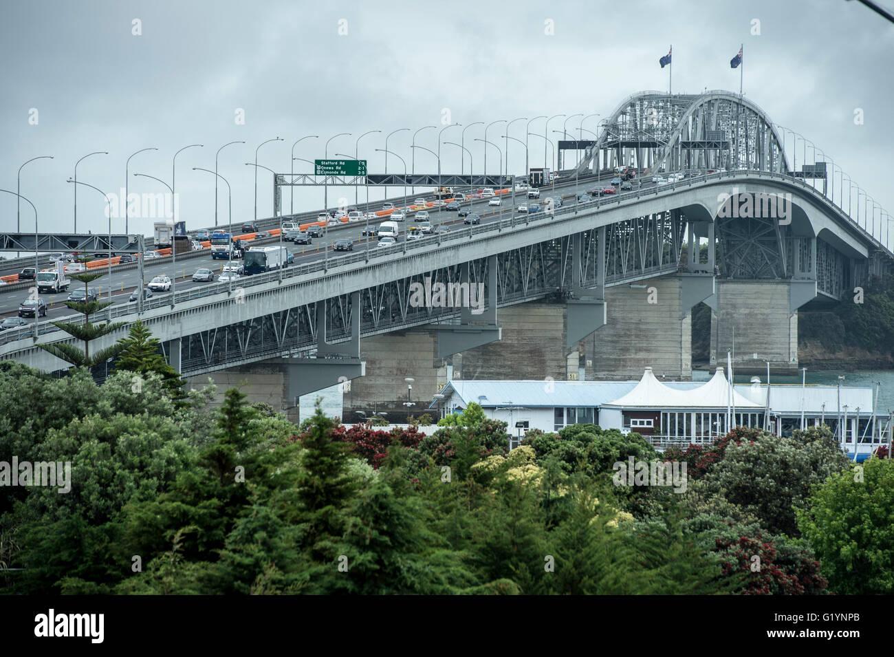 Auckland Harbour Bridge. - Stock Image