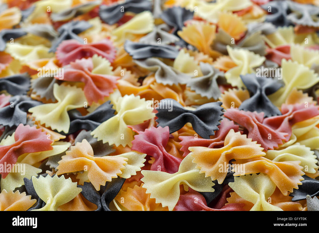 Textured background of pasta - Stock Image