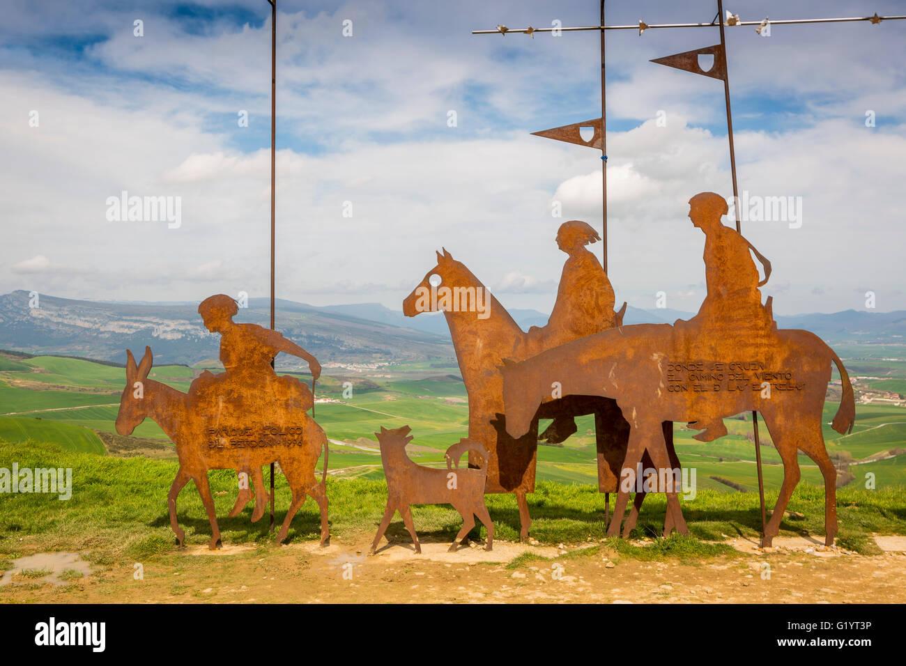 Camino de Santiago - from St Jean de Port, France to Burgos, Apain. - Stock Image