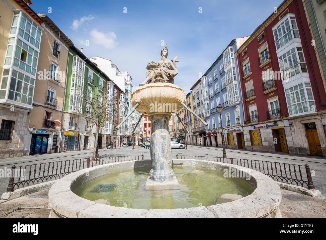 Camino de Santiago pilgrimage journey from St Jean Pied de Port, France to Burgos Spain. - Stock Image