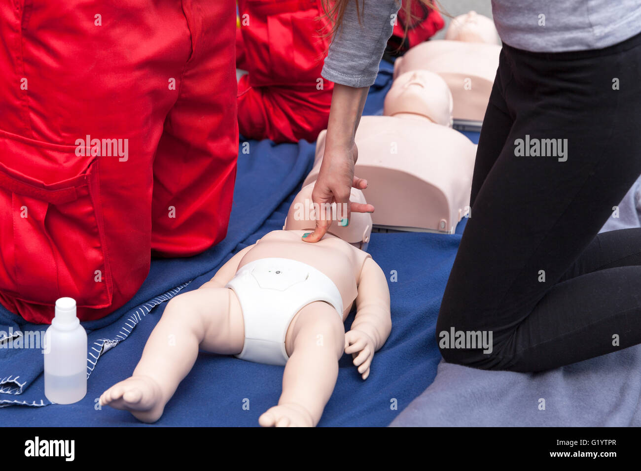 83a68fb1b1 Infant CPR training manikin first aid. Cardiopulmonary resuscitation - CPR.