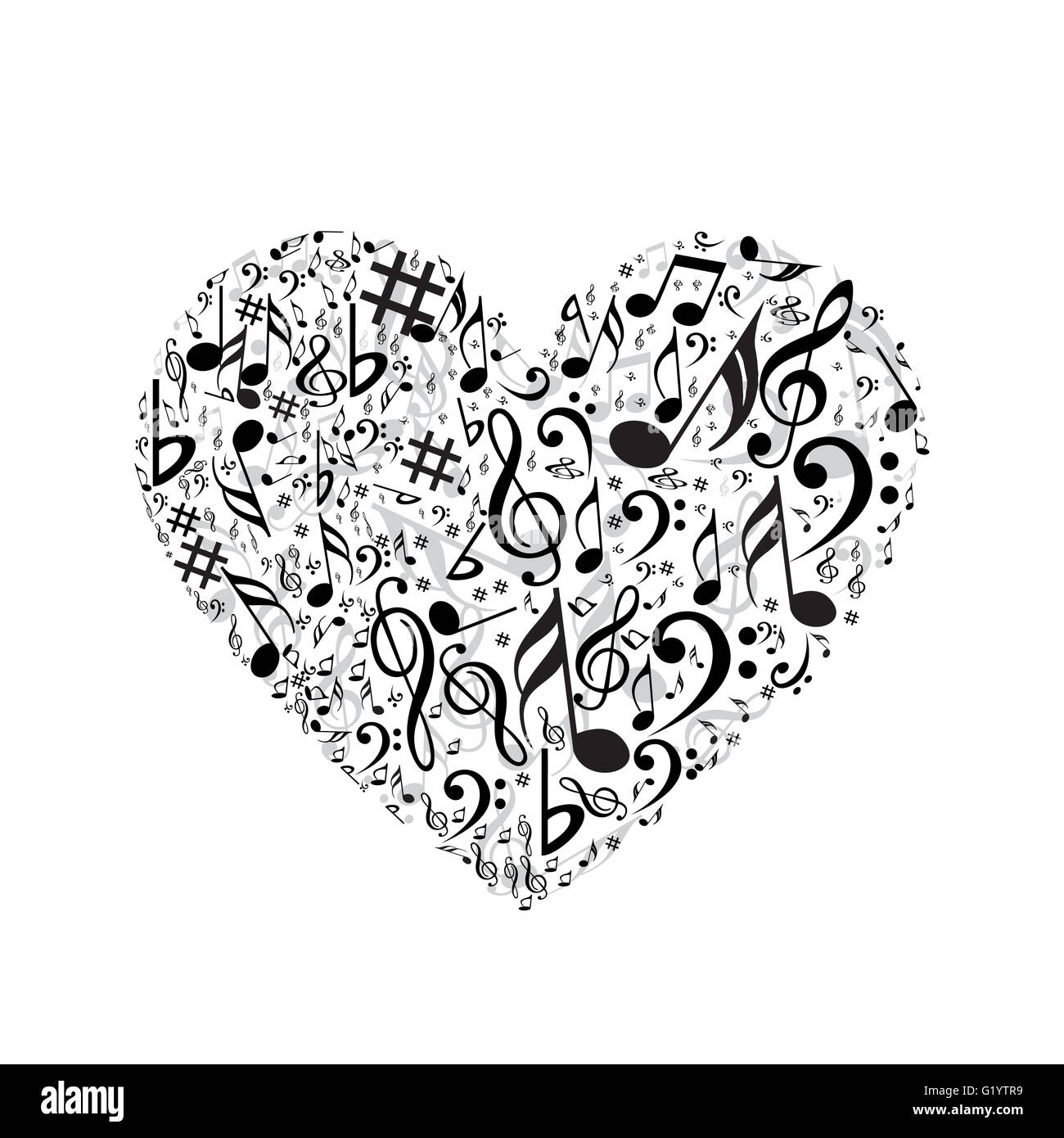 Music Concept Heart Stock Photos Music Concept Heart Stock Images