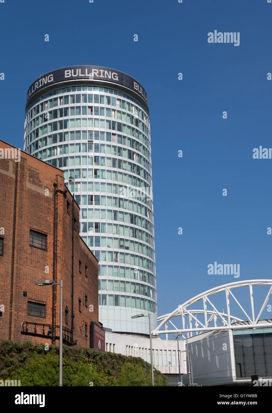 The Rotunda in the Bullring Shopping Centre in the middle of Birmingham, UK - Stock Image