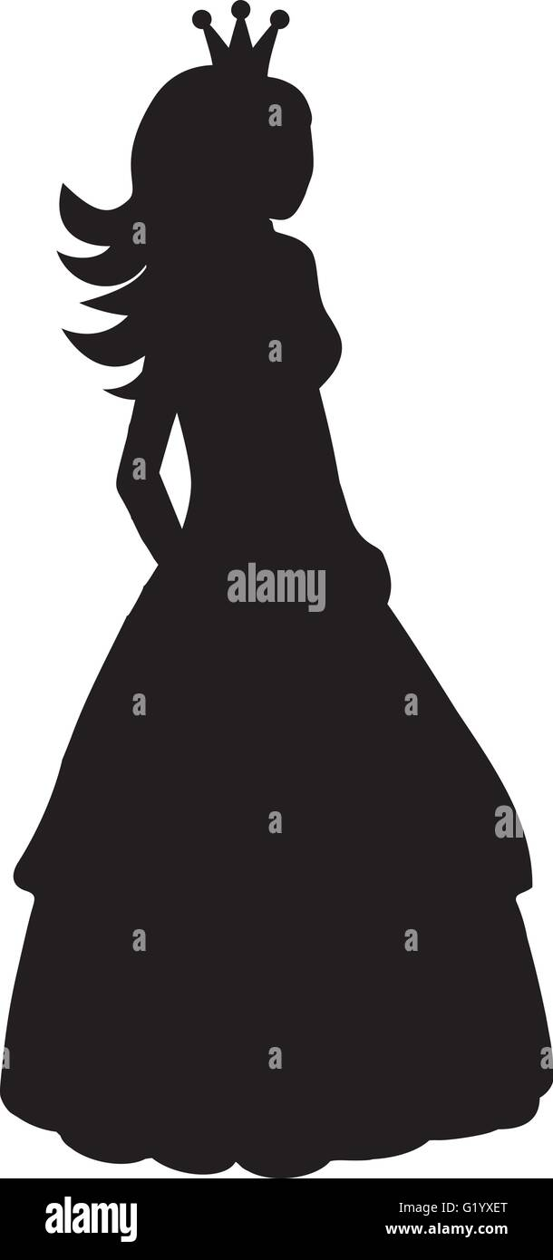 princess silhouette stock vector art illustration vector image