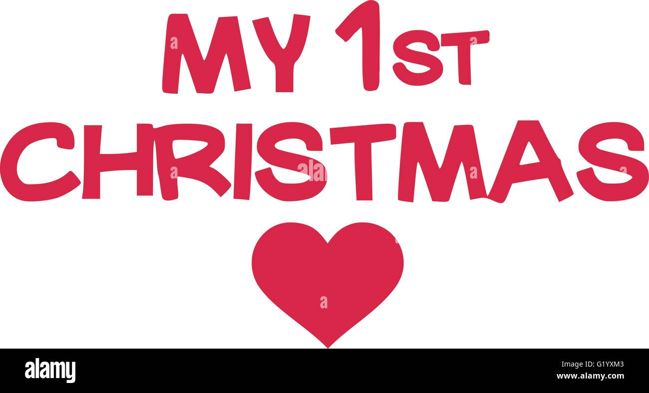 My 1st christmas - Stock Vector