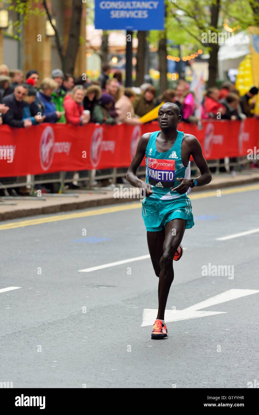 Dennis Kimetto, men's elite, 2016 Virgin Money London Marathon,  London, United Kingdom - Stock Image