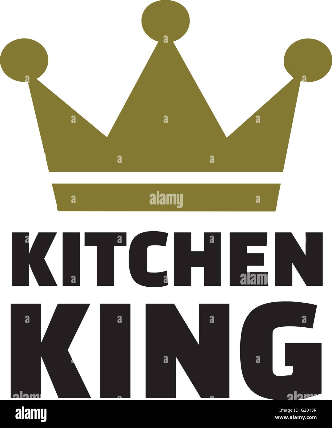 Kitchen King With Crown Stock Vector Image Art Alamy