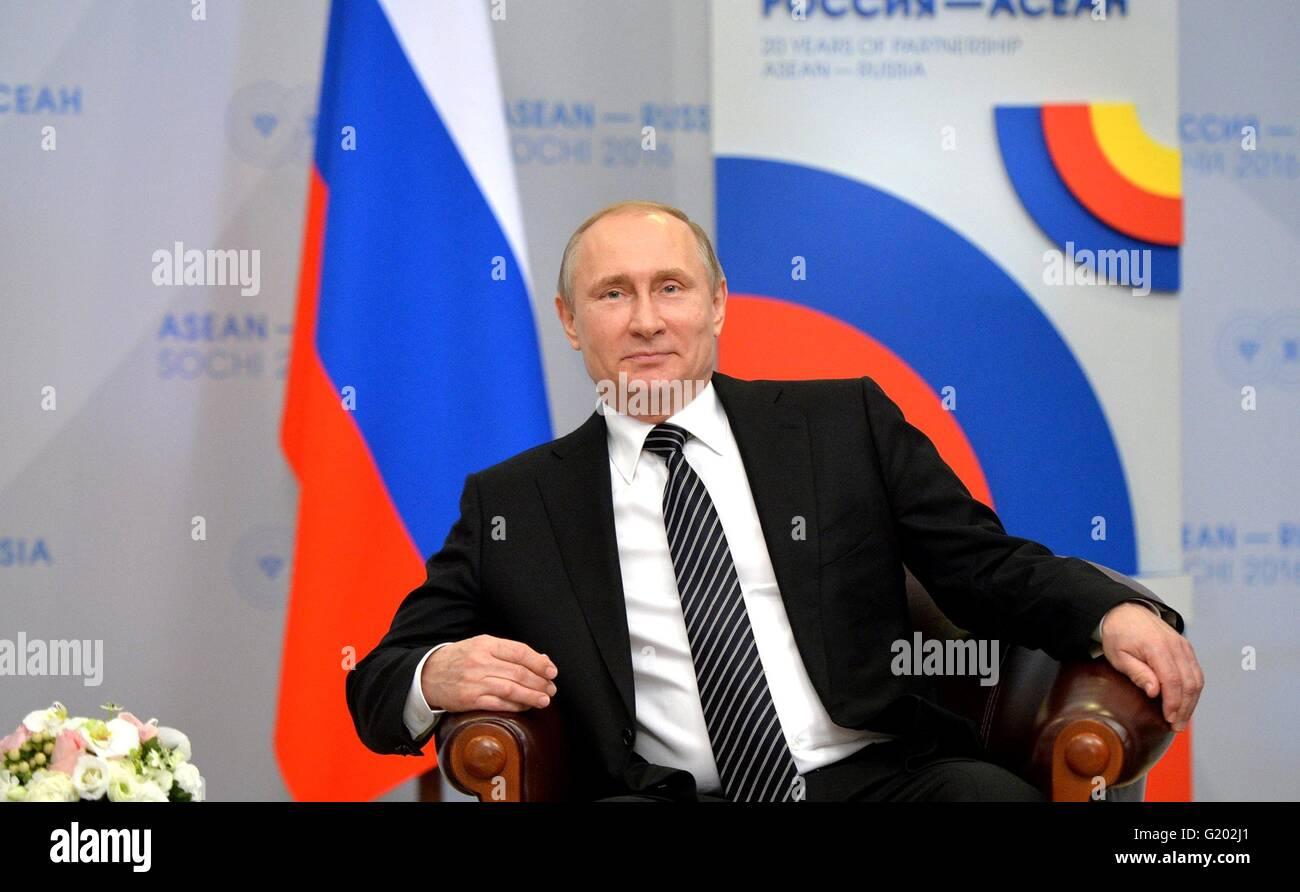 Russian President Vladimir Putin during the ASEAN-Russia Summit at the Radisson Blu Resort & Congress Centre - Stock Image