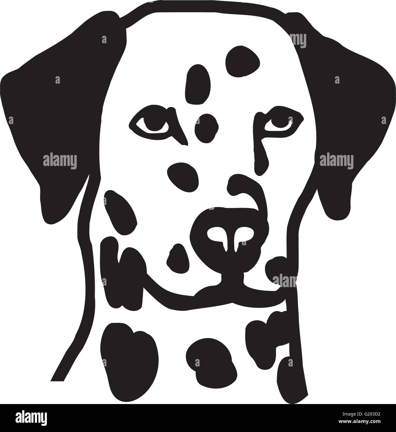 Dalmatian head - Stock Vector