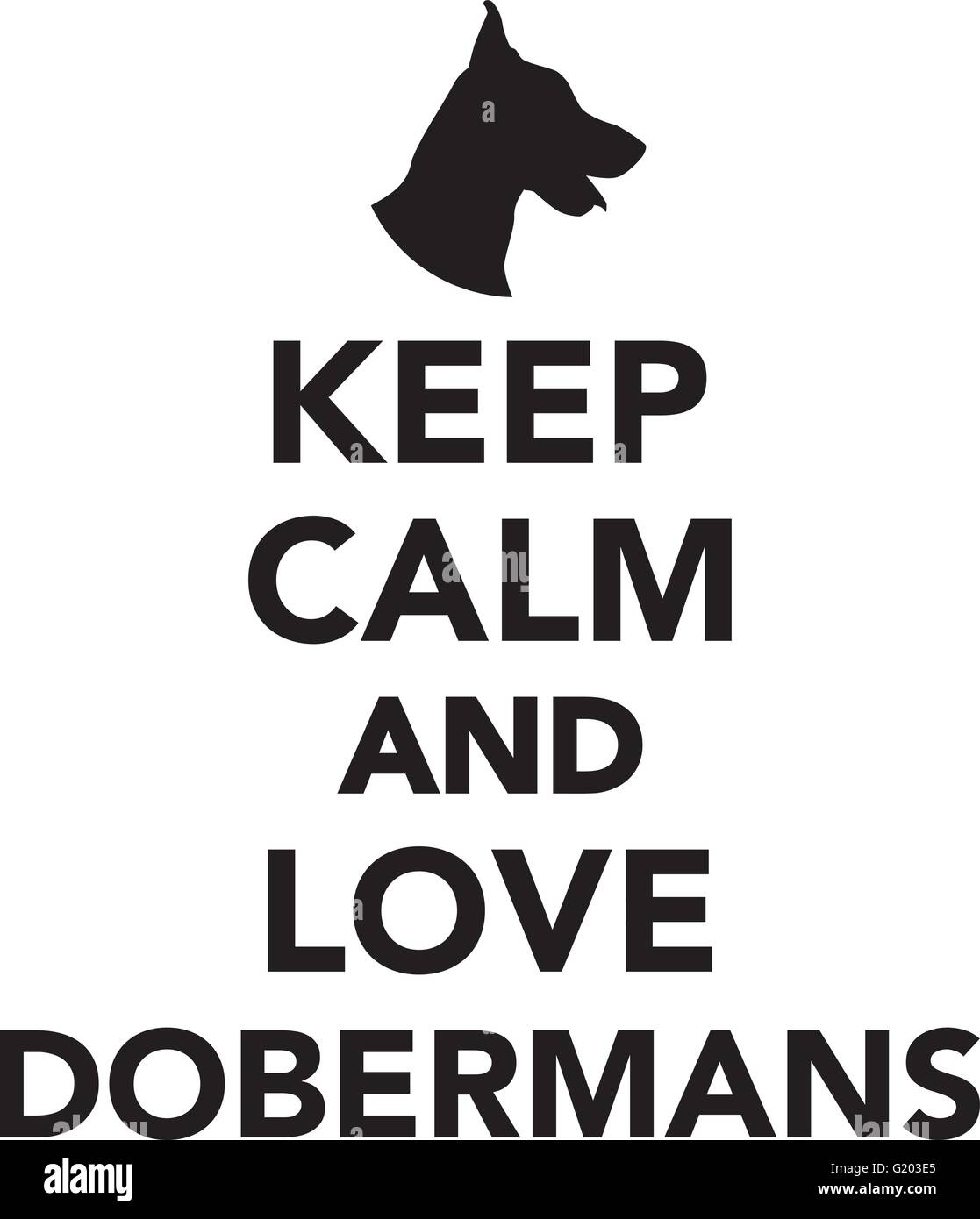 Keep calm and love Dobermans - Stock Vector