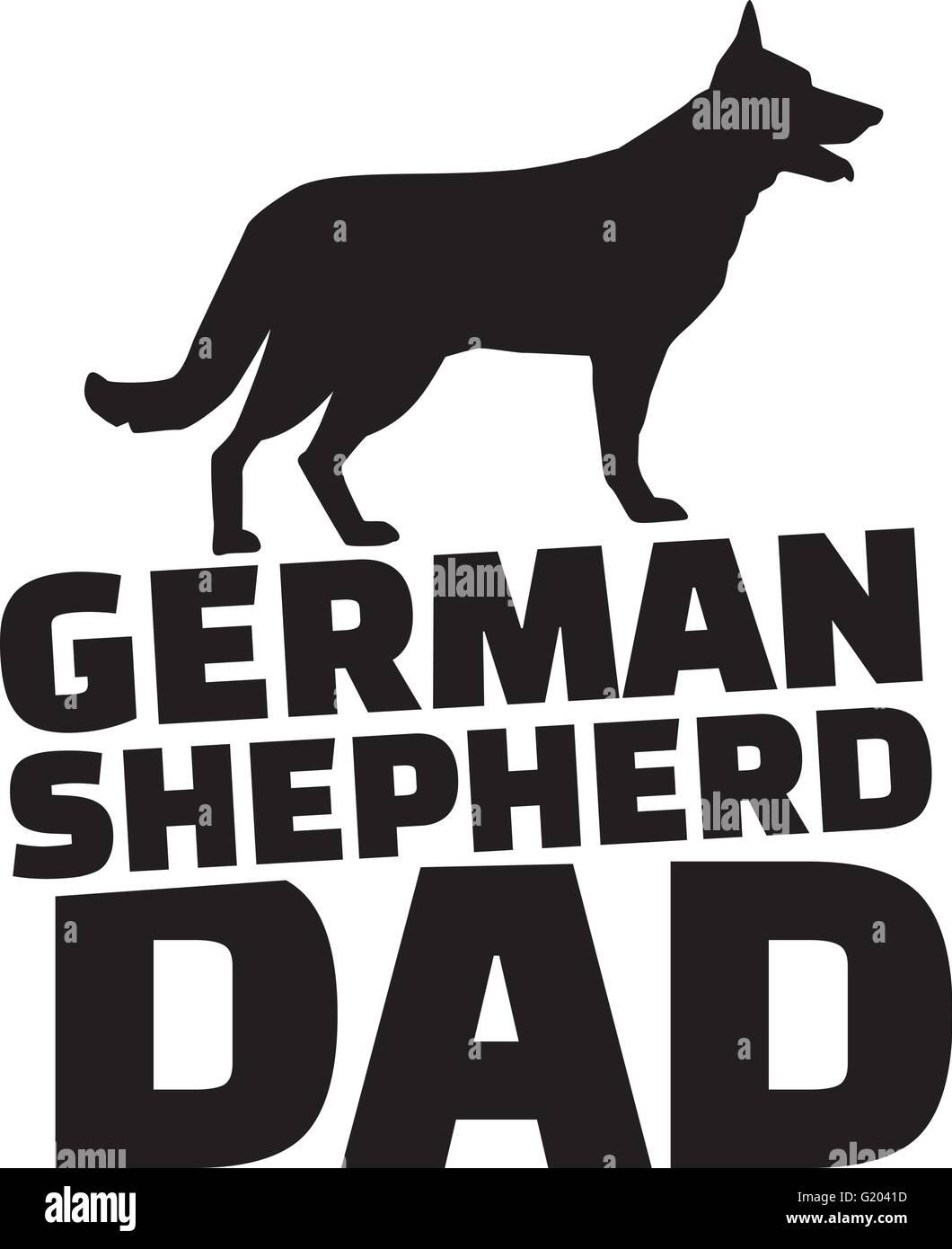 German Shepherd dad - Stock Vector