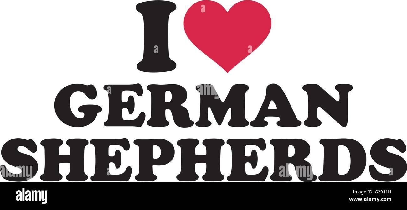 I love German Shepherds - Stock Vector