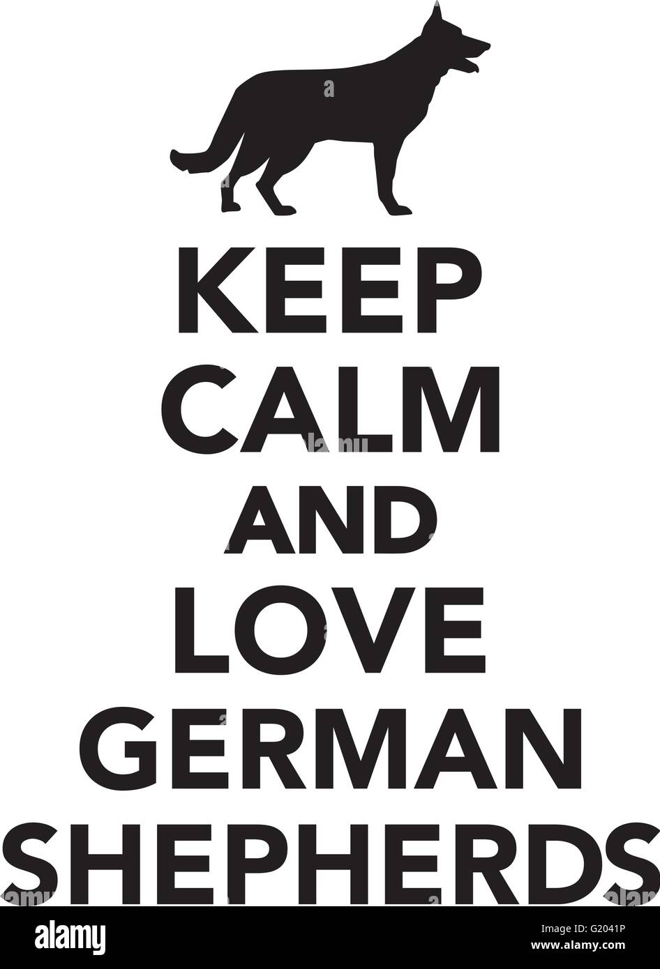 Keep calm and love German Shepherds - Stock Vector