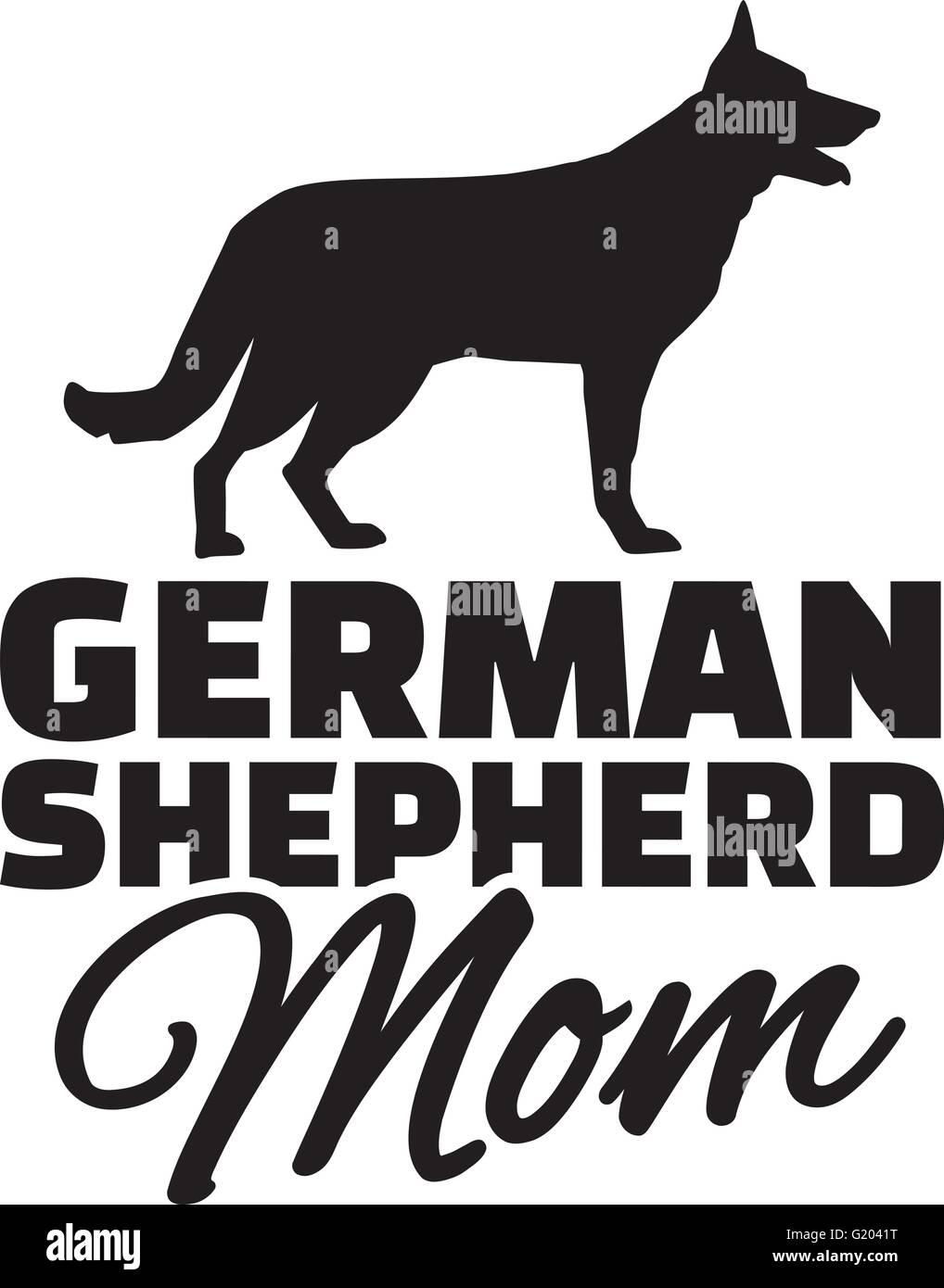 German Shepherd Mom - Stock Vector