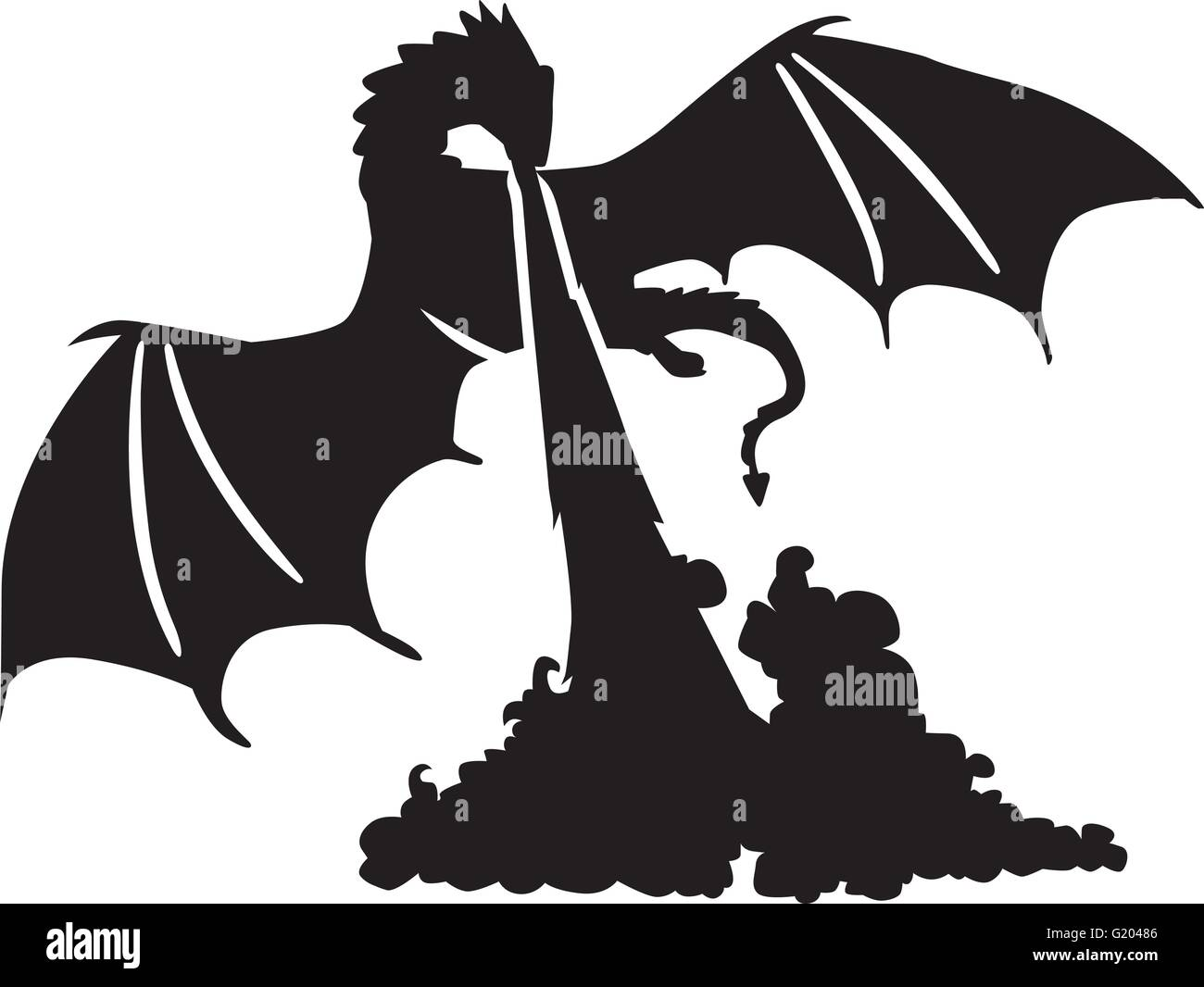 Fire Breathing Stock Vector Images - Alamy
