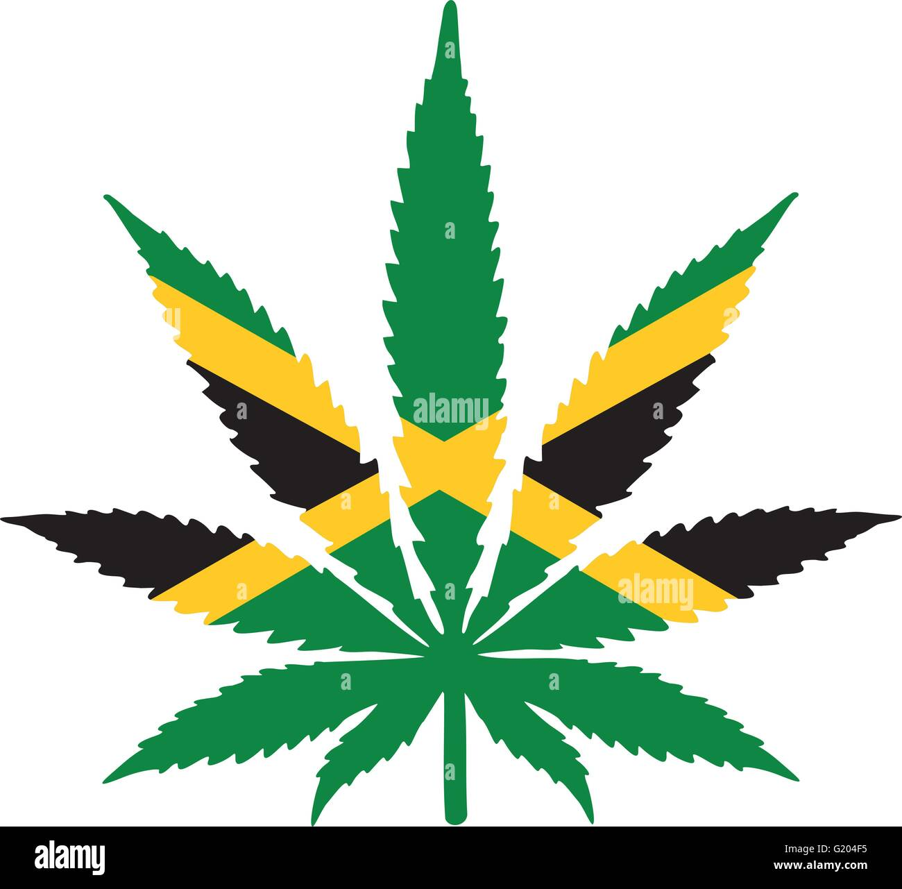 marijuana leaf with jamaica flag stock vector art illustration rh alamy com