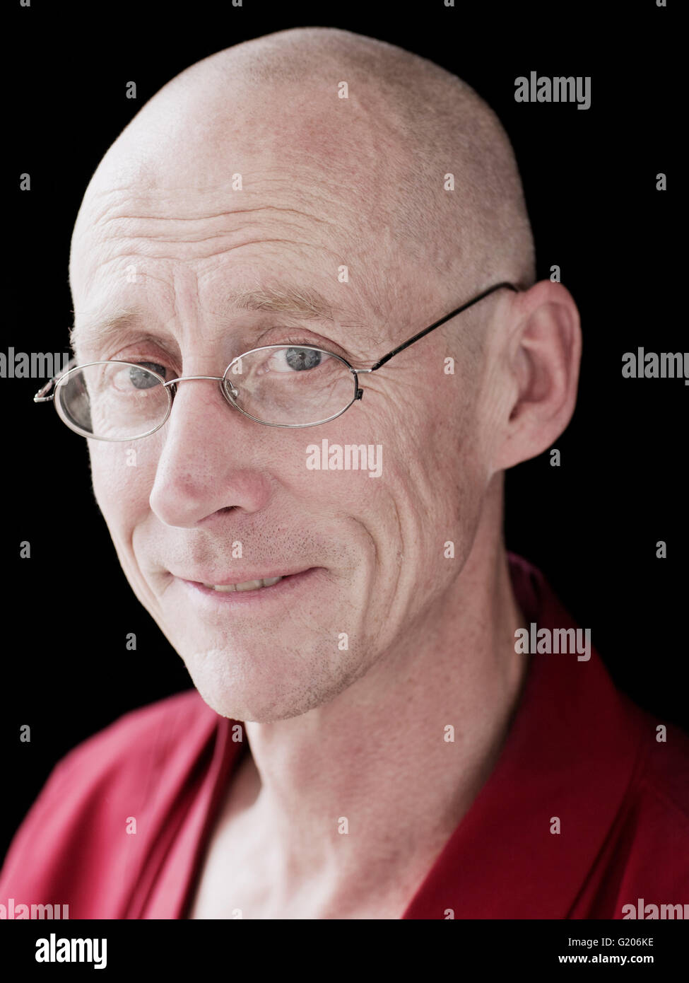 A Portrait of Buddhist monk, teacher and author Geshe Graham Woodhouse. Stock Photo