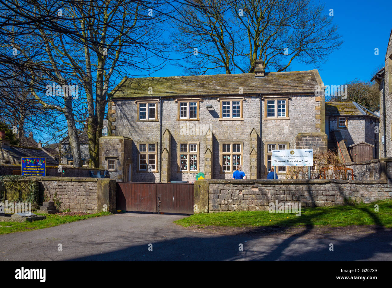 The Old Grammar School, Tideswell, Derbyshire - Stock Image
