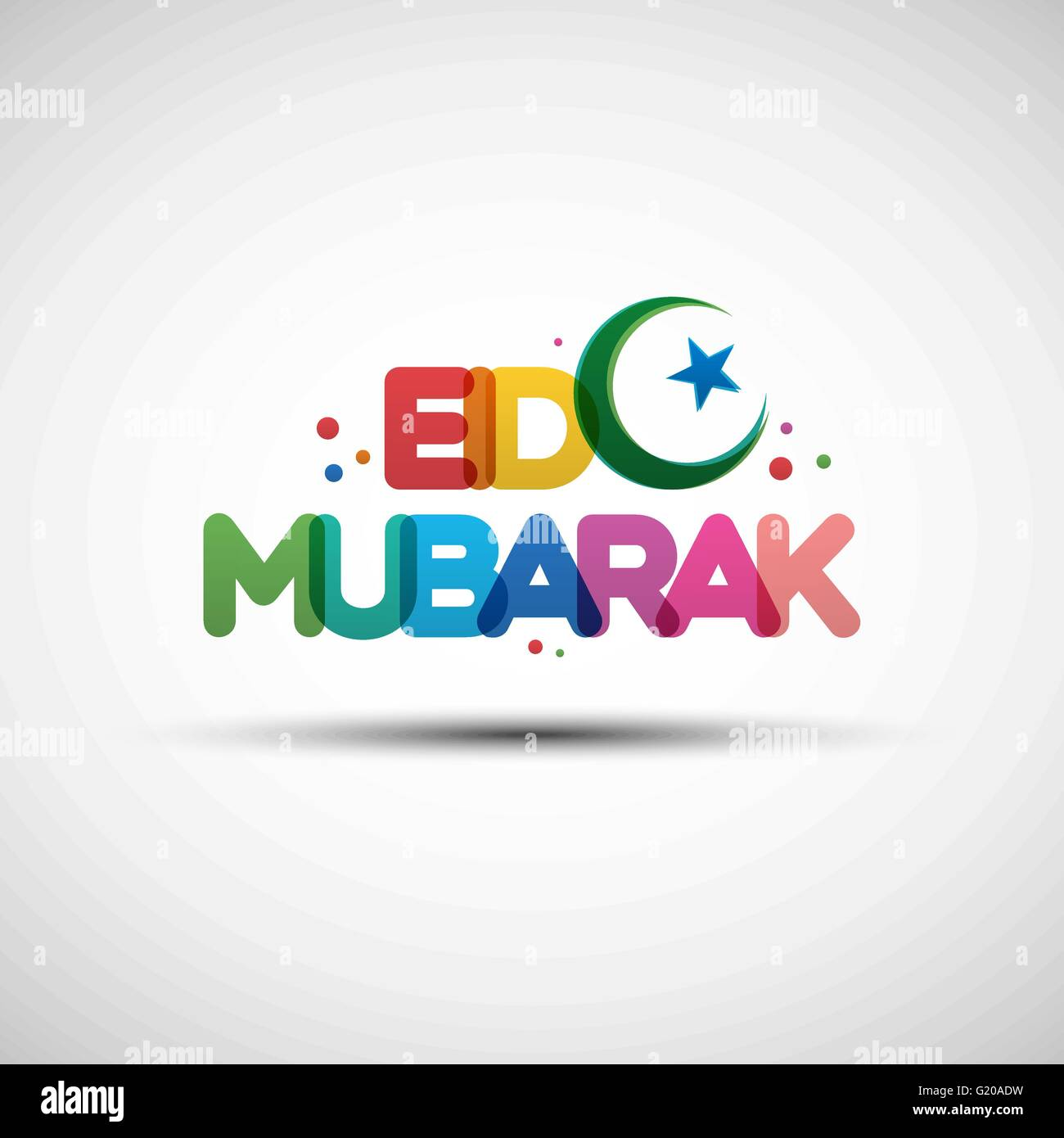 Eid mubarak greeting card stock photos eid mubarak greeting card vector illustration of eid mubarak greeting card design with creative multicolored transparent text for holy m4hsunfo