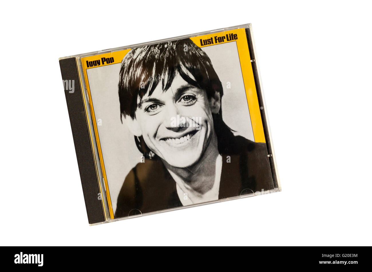 Lust for Life was the second studio album by Iggy Pop, and his second collaboration with David Bowie. - Stock Image