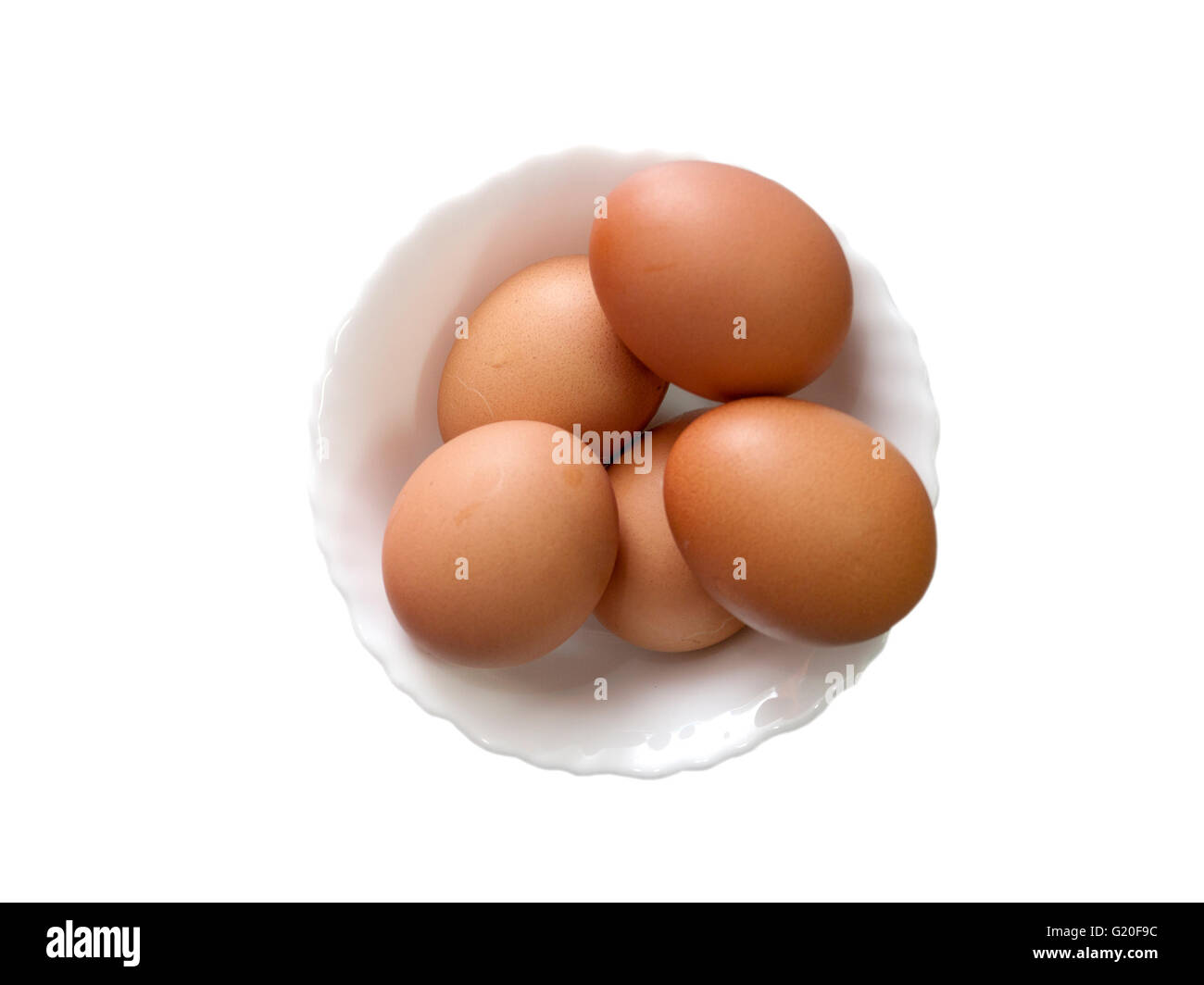 A coup of eggs for lunch - Stock Image