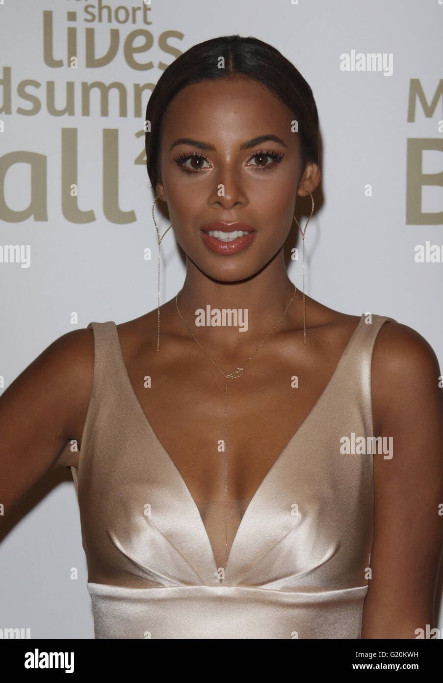 Rochelle Humes attends the Together for Short Lives Midsummer Ball at Banqueting House in London - Stock Image