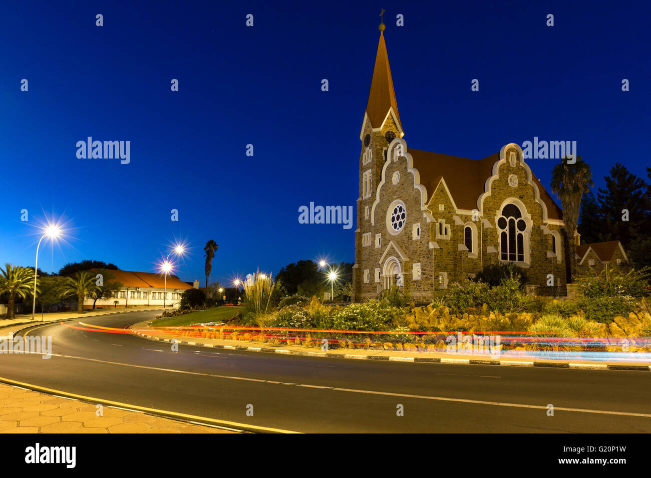 Christ Church in Windhoek, Namibia - Stock Image